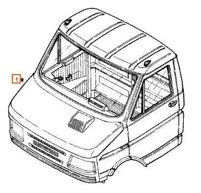 Completa cabina para iveco daily i 40-10 w camión
