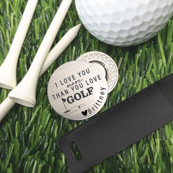 Golf ball marker golf regalo de san valentín regalo para el