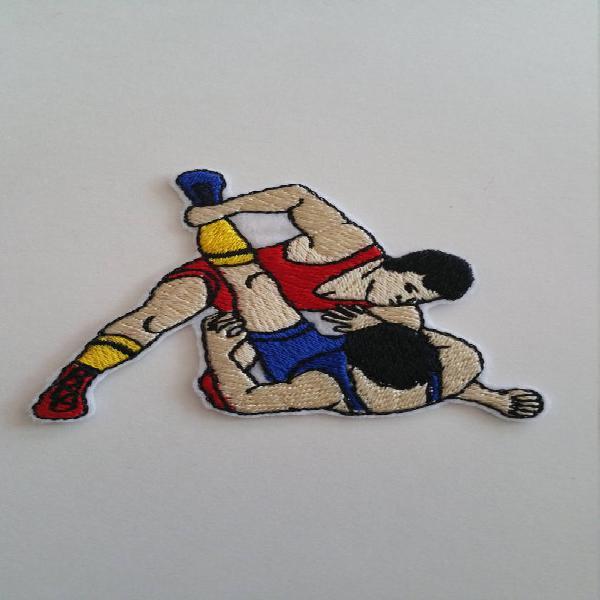 Hierro de la lucha en o coser en parche lucha parche sport