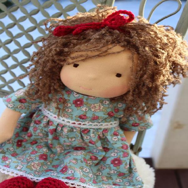 Listo para enviar 35cm waldorf muñeca steiner muñeca