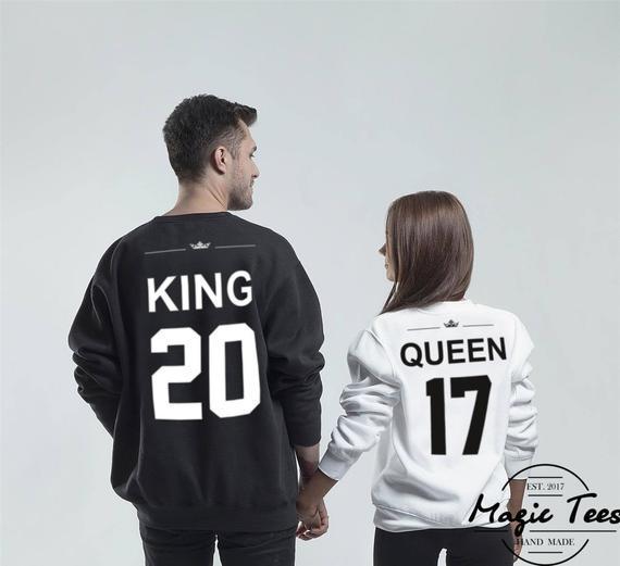 Parejas suéteres king y queen sudaderas king y queen