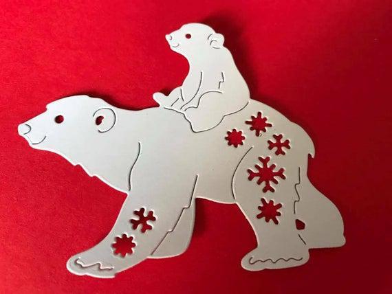 Troquel de oso polar cortes x 5