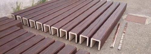 Vigas imitacion madera 12 cm de ancho x 8 cm de alto x 2,60