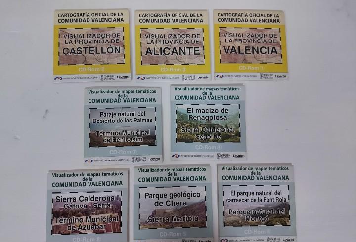 Cartografía de la comunidad valenciana y parques naturales