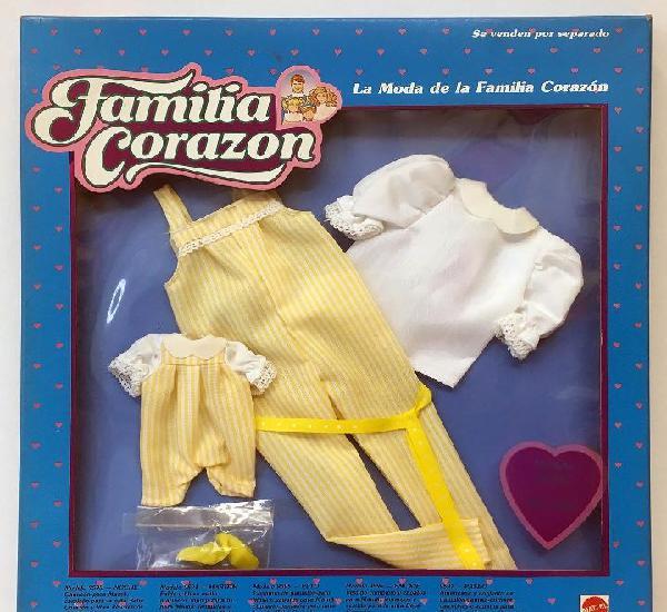 Mattel fc vestido modelo peto la moda de la familia corazon.