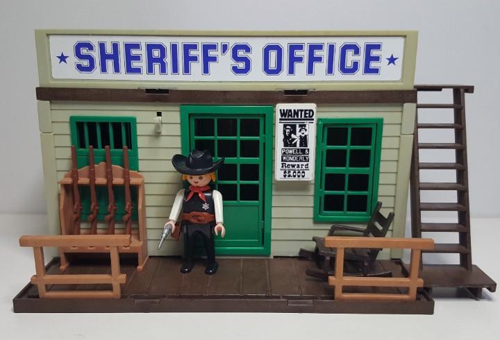 Playmobil 3423 antigua oficina sheriff oeste western casa