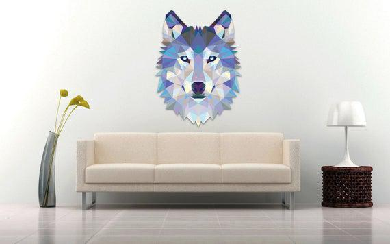 Calcomanía de la pared del lobo pegatina moderna