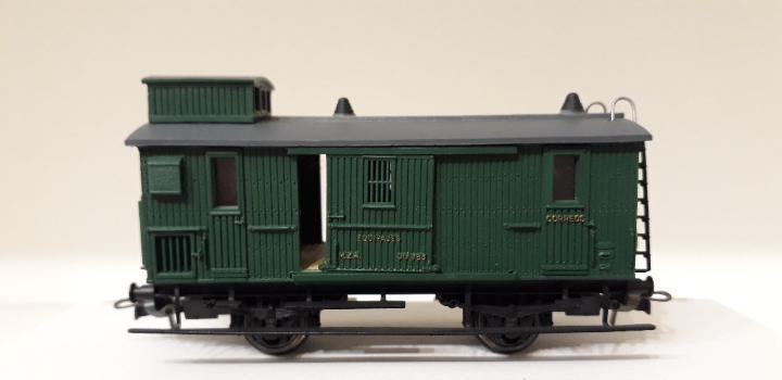 Electrotren h0 vagón-furgón para correos y equipajes, de