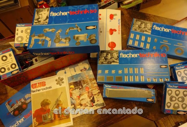 Fischertechnik. gran lote de piezas. algunas con caja a