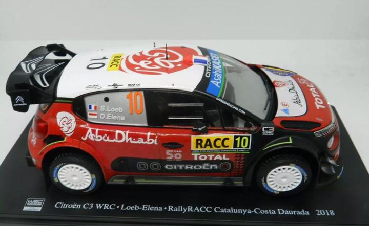 Precioso coche rally citroen c3 wrc altaya 1:24