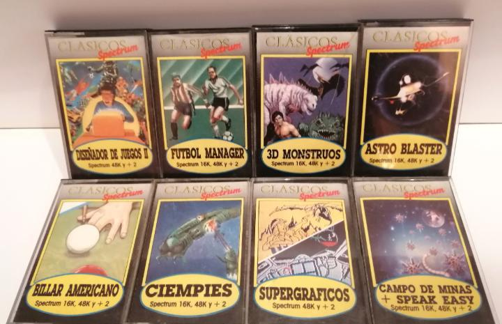 Spectrum * lote de 8 videojuegos (casetes) para ordenador