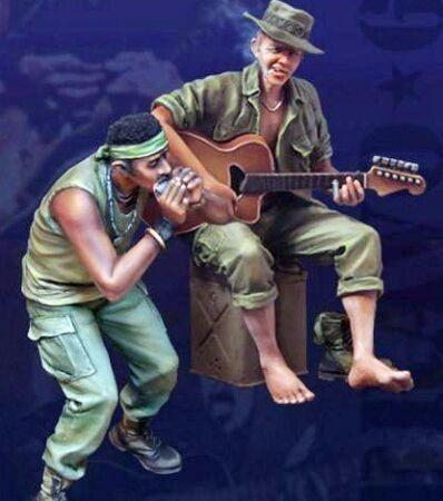 U.s. soldier vietnam 1/35 resina 2 figuras nam a-310