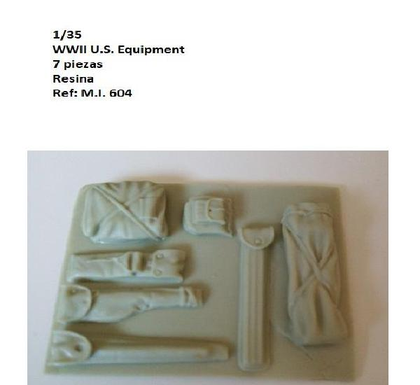 Wwii u.s. equipment 1/35 resina accesorios diorama