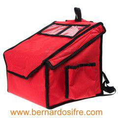 Bolsa mochila roja reparto de comida,pizza...