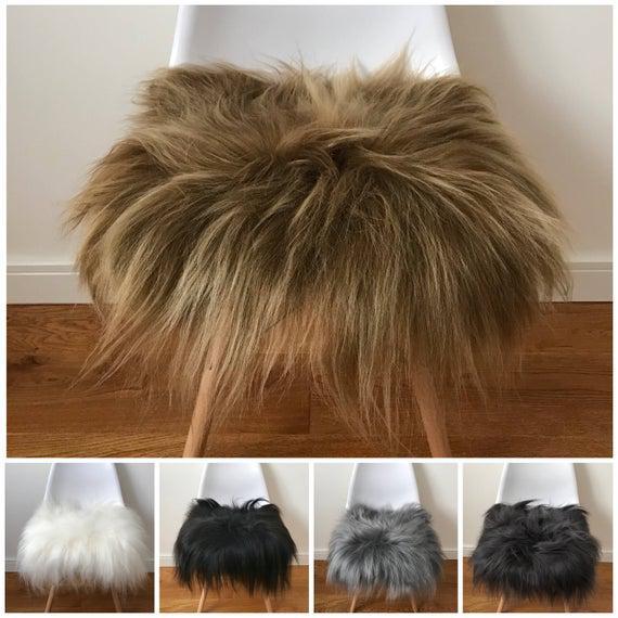 Lujosa lujosa piel de oveja islandesa genuina de pelo largo