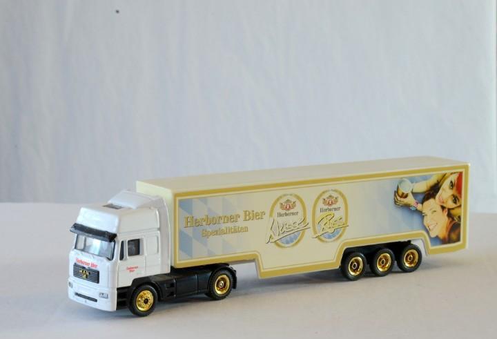 Grell escala h0 1:87 man camión articulado herborner bier