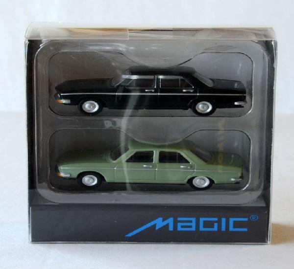 Herpa Magic Escala H0 1:87 Juego de dos coches Audi 100