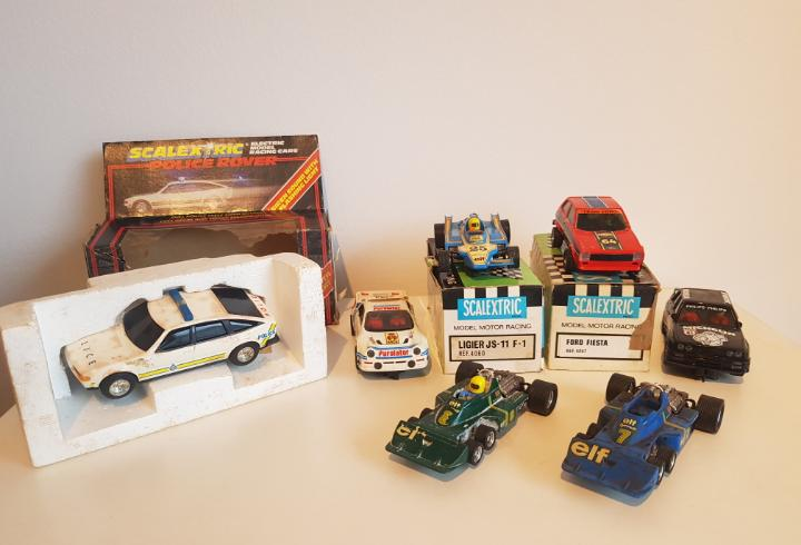 Scalextric exin gran lote de coches y mas años 70 tal cual
