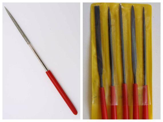 Limes métal avec étui 14cm outils 1 ronde 1 plate ou lot