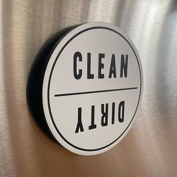 Limpiar sucio lavavajillas imán / cocina reversible