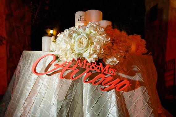Mr and mrs last name, wedding sign, mr & mrs last name table