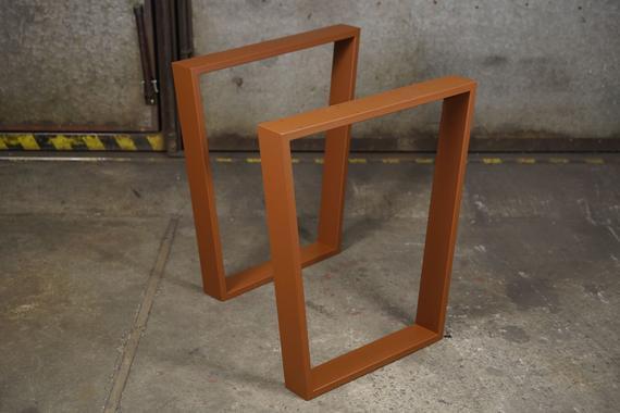 Patas de mesa de acero, patas de mesa trapezoidal, patas de