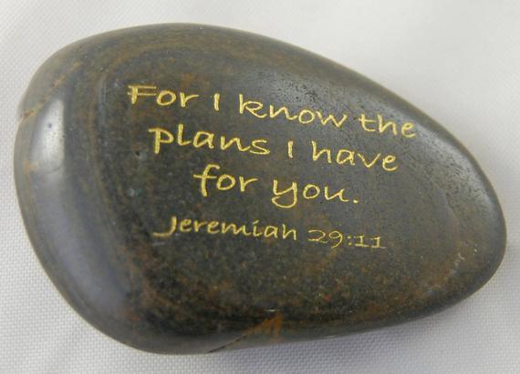 Porque conozco los planes... jeremías 29:11 grabado