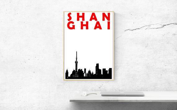 Shanghai impresión, china impresión, cartel de shanghai