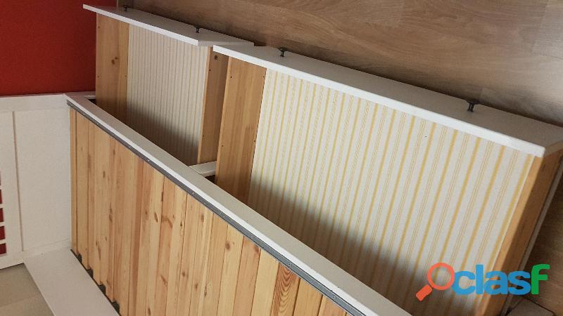 Cama nido diván blanco + colchón 2