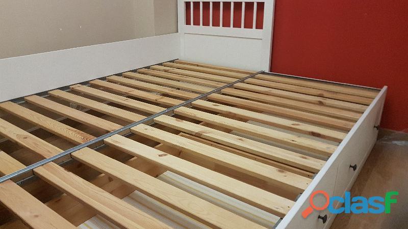 Cama nido diván blanco + colchón 3