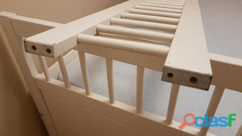Cama nido diván blanco + colchón 6