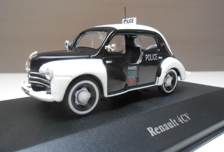 Coche policia renault 4cv police 1/43 atlas car brigade 4 cv