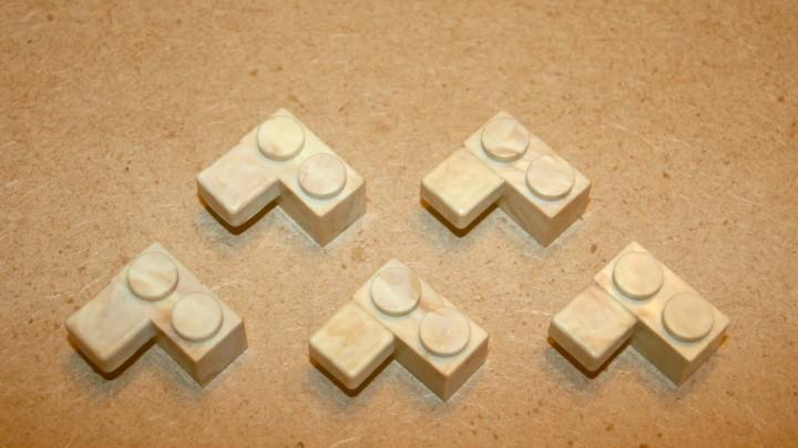 Oferta: 5 piezas bloques 2x1 con loseta de exin lines bros,