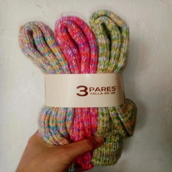 Calcetines de lana oveja montaña