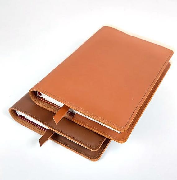 Cubierta del cuaderno de cuero hobonichi / cubierta del