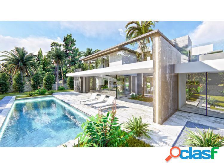 Villa de lujo en proyecto a 100 metros del mar en venta en dénia