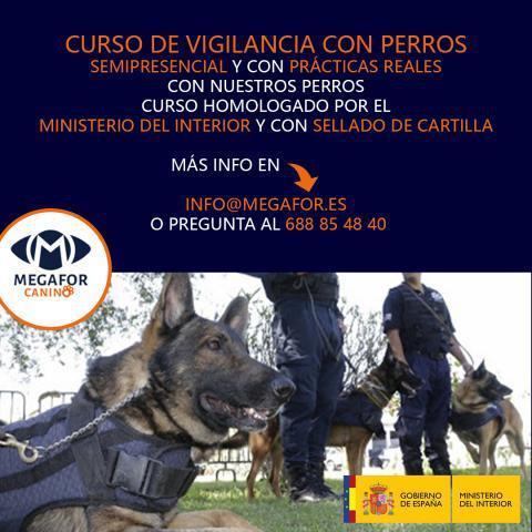 Curso de vigilancia con perros