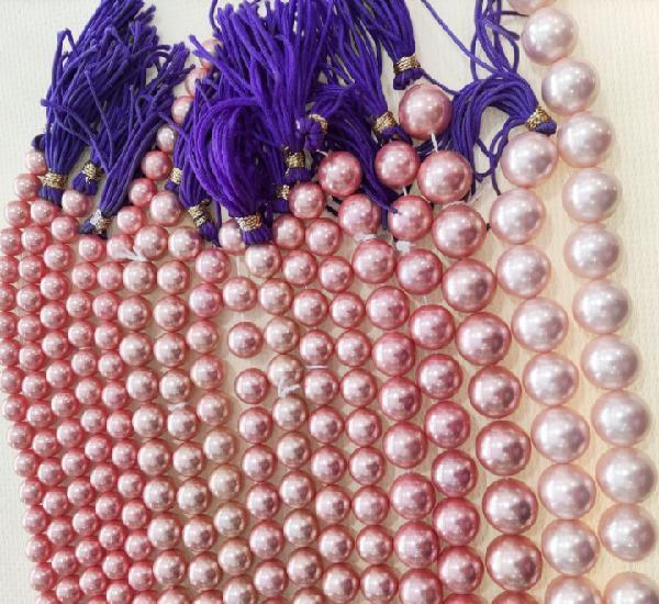 Perlas shell rosa oferta lote