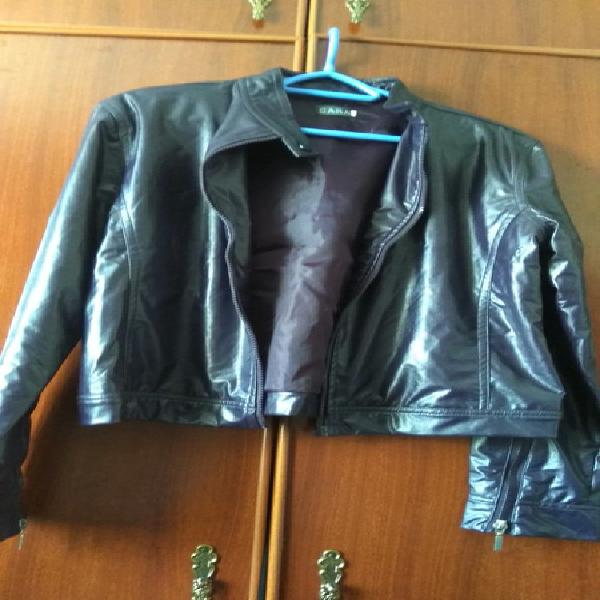 Cazadora piel sintética / blazer símil piel / veste