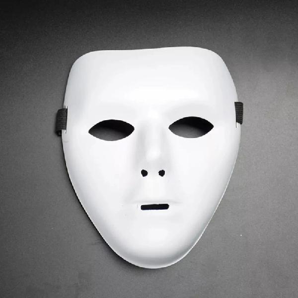 Mascara de cara entera color blanco