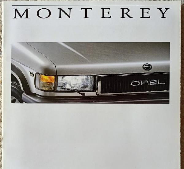 Catálogo opel monterey. abril 1992. en español *