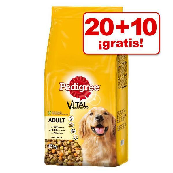 Pedigree pienso para perros 2 x 13 / 2 x 15 kg ¡hasta 10 kg