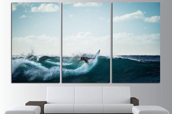 Surf pared arte surf pared decoración surf canvas surf