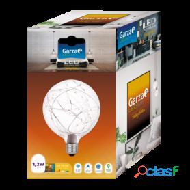 Garza lighting, bombilla globo led vintage starlight1,2w e27 luz cálida 2700k