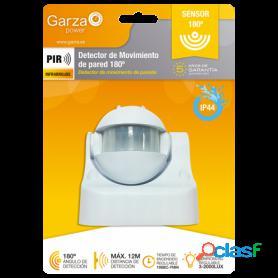 Garza power, detector de movimiento infrarrojo de pared, exterior ip44, detección 180º