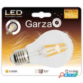 Bombilla led garza filamento estándar 9 w, e27, 360º, 1060 lúmenes, luz cálida