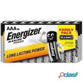 Pack de 16 pilas alcalinas energizer aaa (lr03)