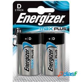 Energizer max plus, pilas alcalinas d lr20, blister 2 unidades de alta tecnología y rendimiento