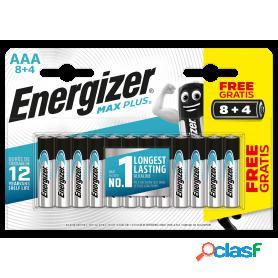Energizer max plus aaa lr03, blister 12 pilas alcalinas de alta tecnologia y rendimiento