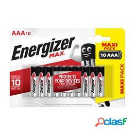 Energizer max plus, pilas alcalinas aaa lr03, blister 6 + 2 unidades de alta tecnología y rendimiento